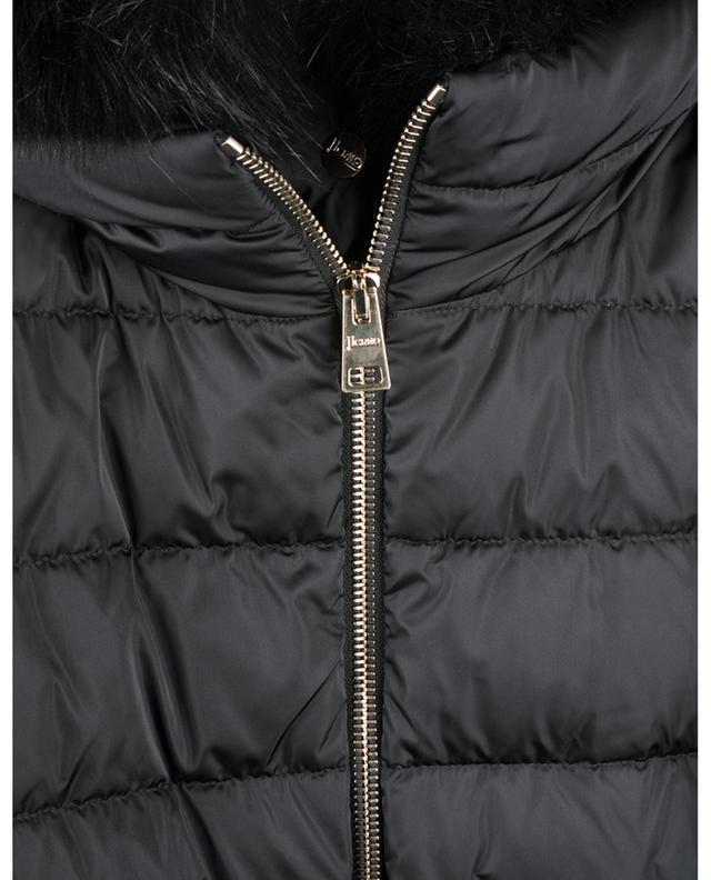 Doudoune trapèze embellie de fourrure synthétique Polar-Tech HERNO