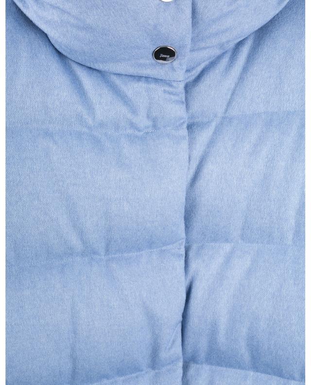Doudoune boutonnée en cachemire et soie déperlants HERNO