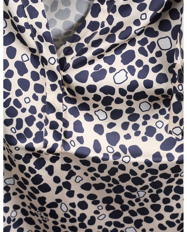 Blouse en soie imprimée léopard HERZEN'S ANGELEHEIT