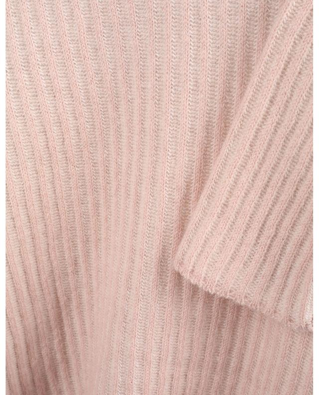 Pull côtelé bicolore en laine et cachemire LUNARIA CASHMERE