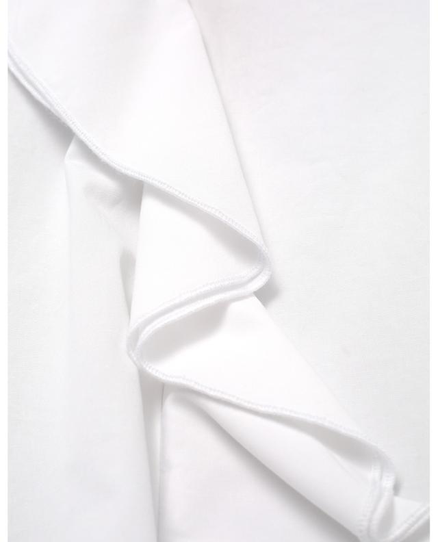 Blouse en popeline stretch embellie de volants LA CAMICIA