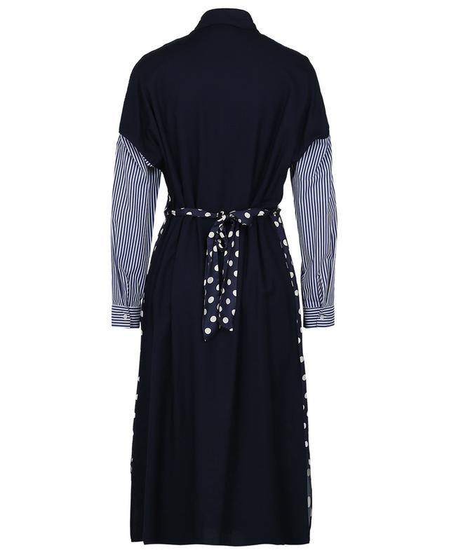 Robe tunique multi-matière à rayures et pois LA CAMICIA