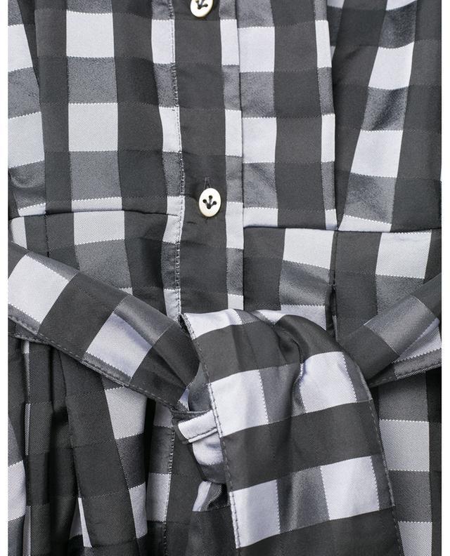 Robe chemise à manches longues à carreaux LE SARTE PETTEGOLE