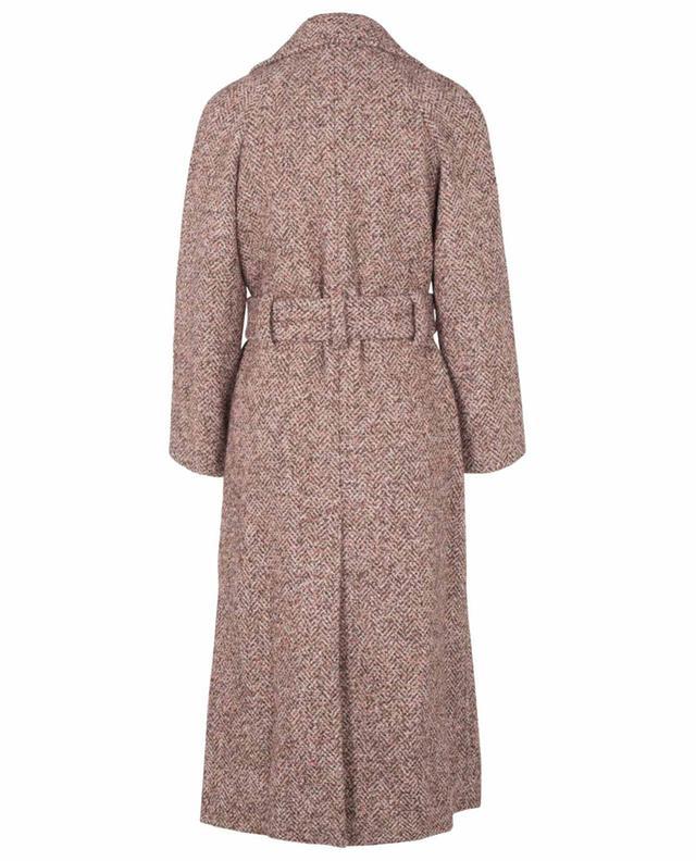 Manteau à double boutonnière en tweed à chevrons Cerere FEDELI
