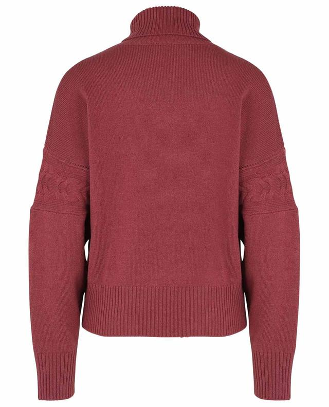 Bussola cashmere turtleneck jumper with cable knit detail FEDELI
