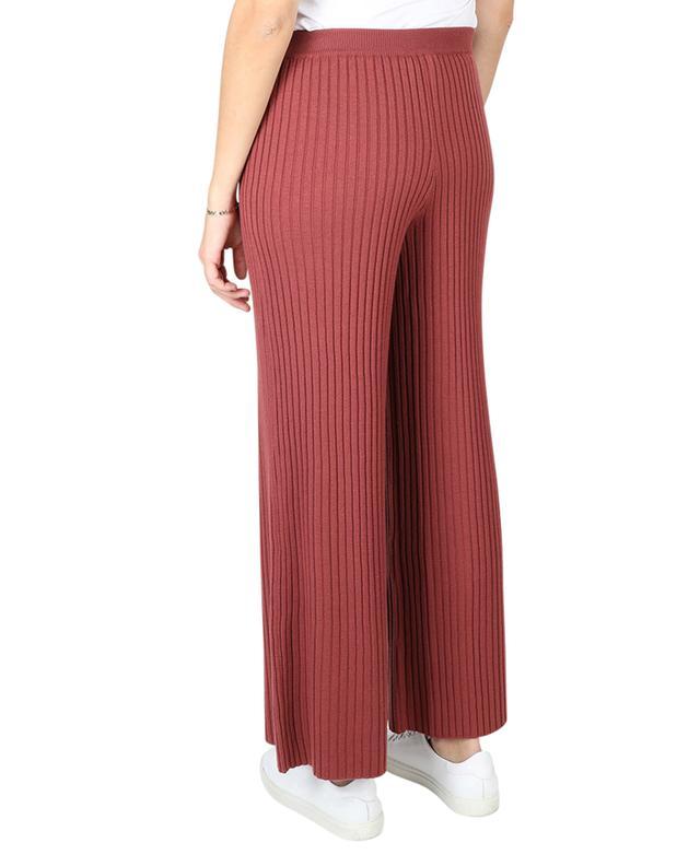 Pantalon large en maille côtelée Kepler FEDELI
