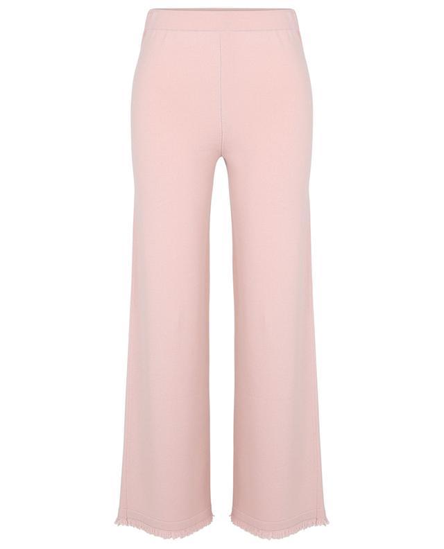 Pantalon large en maille à franges Cefeo Ontario FEDELI