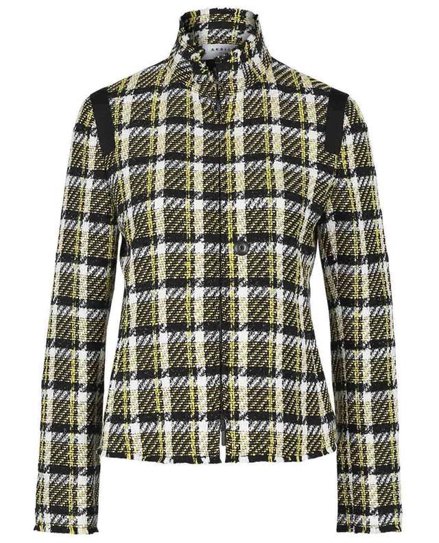 Veste en tweed à carreaux et col montant AKRIS PUNTO