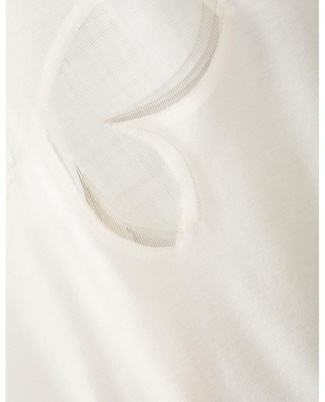 Top à manches courtes détail pétales de fleur AKRIS PUNTO