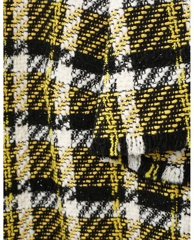 Top à manches courtes en tweed à carreaux AKRIS PUNTO