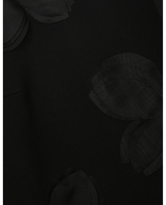 Sweat-shirt à col rond orné de pétales Magnolia AKRIS PUNTO
