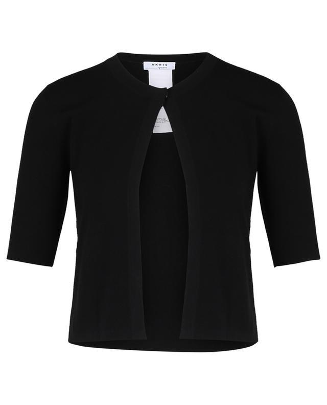 Cardigan à manches courtes en laine mélangée AKRIS PUNTO