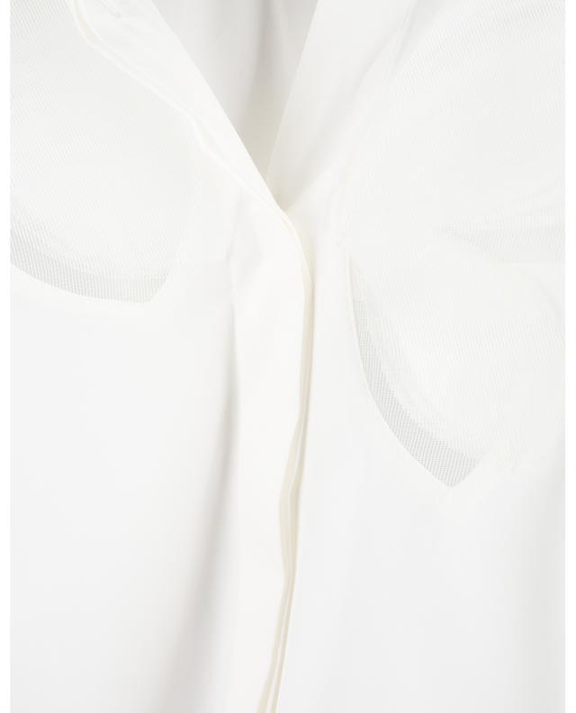 Blouse sans manches en coton avec empiècements fleuris AKRIS PUNTO