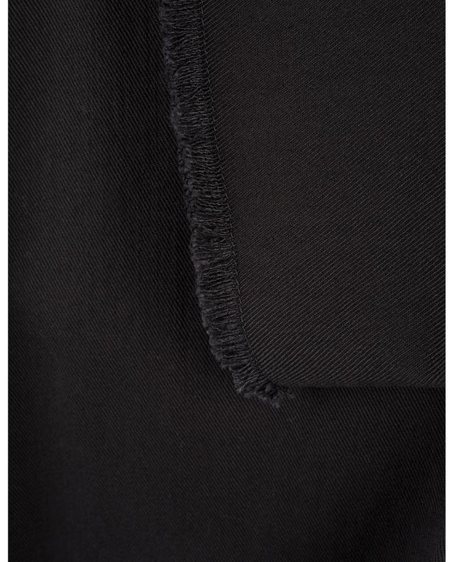 Pantalon raccourci à franges en coton mélangé AKRIS PUNTO