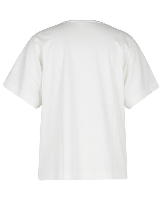T-shirt oversize en jersey imprimé Magnolia AKRIS PUNTO