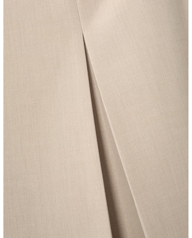Jupe courte couleur sable à pli creux AKRIS PUNTO