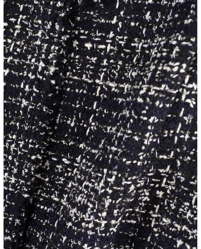 Robe fourreau à manches courtes en coton mélangé AKRIS PUNTO