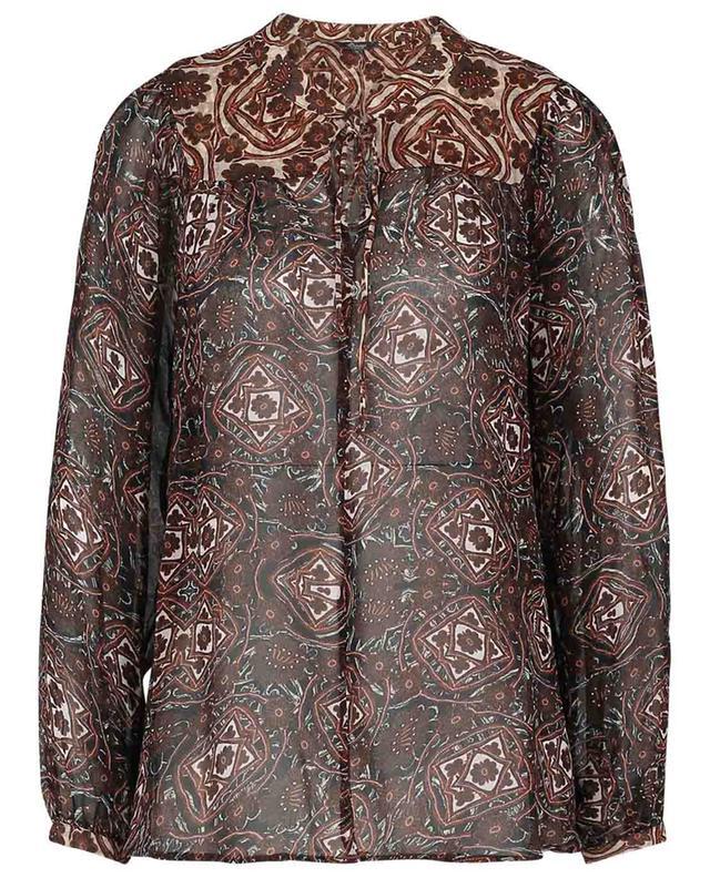 Geo Pano printed georgette blouse PRINCESS