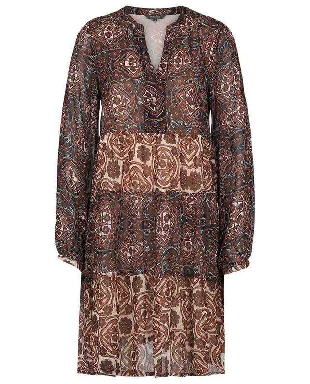 Geo Pano short printed tiered flounced dress PRINCESS