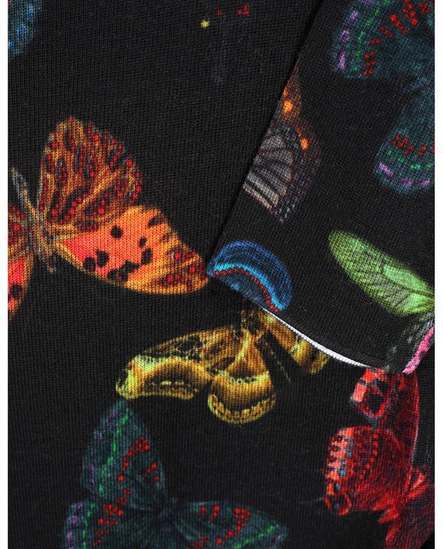 Lässiger Feinstrickpullover mit Schmetterlingsprint PRINCESS