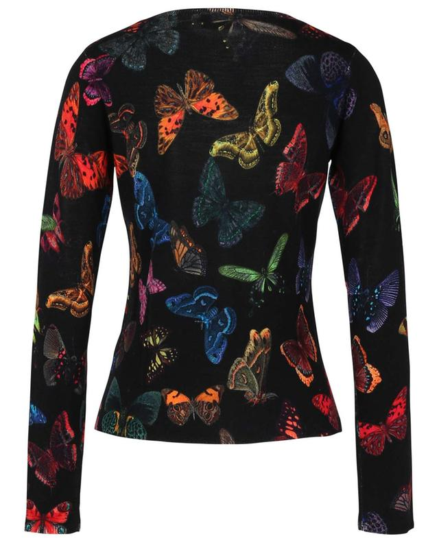Butterfly printed lightweight cardigan with decorative buttons PRINCESS