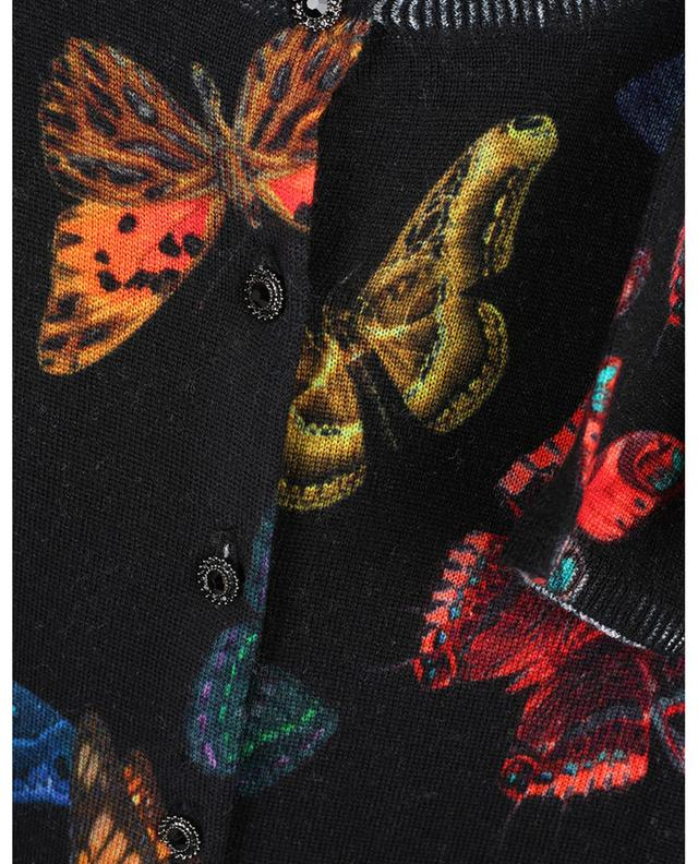 Cardigan léger à boutons bijou imprimé papillon PRINCESS