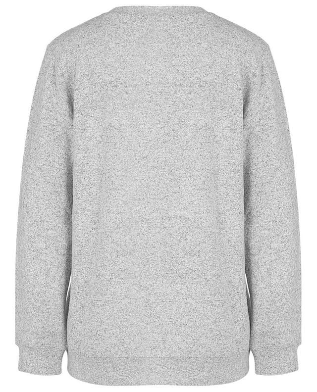 Sweat-shirt fin gris chiné en viscose détail cristaux PRINCESS