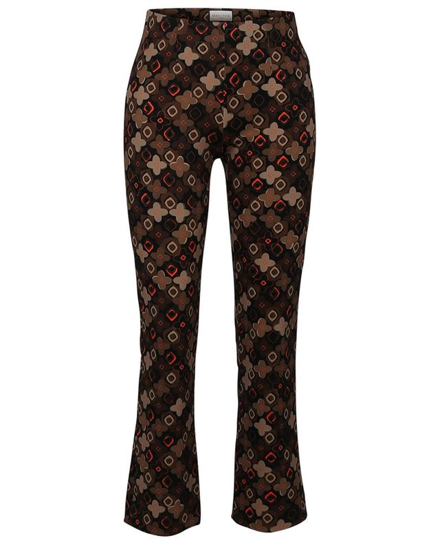 Pantalon droit en crêpe stretch fleurie Cindy SEDUCTIVE
