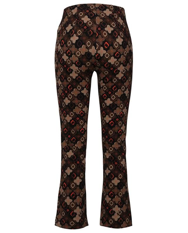 Cindy floral printed stretch crepe straight trousers SEDUCTIVE