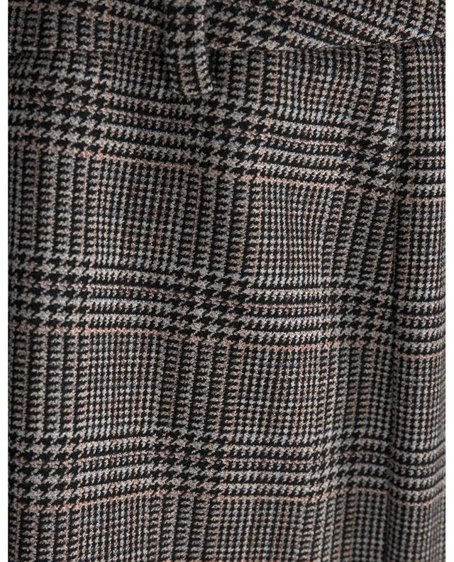 Anica viscose and wool blend checked trousers SEDUCTIVE