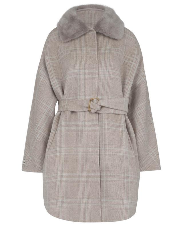 Manteau en laine et cachemire avec fourrure véritable SUPREMA