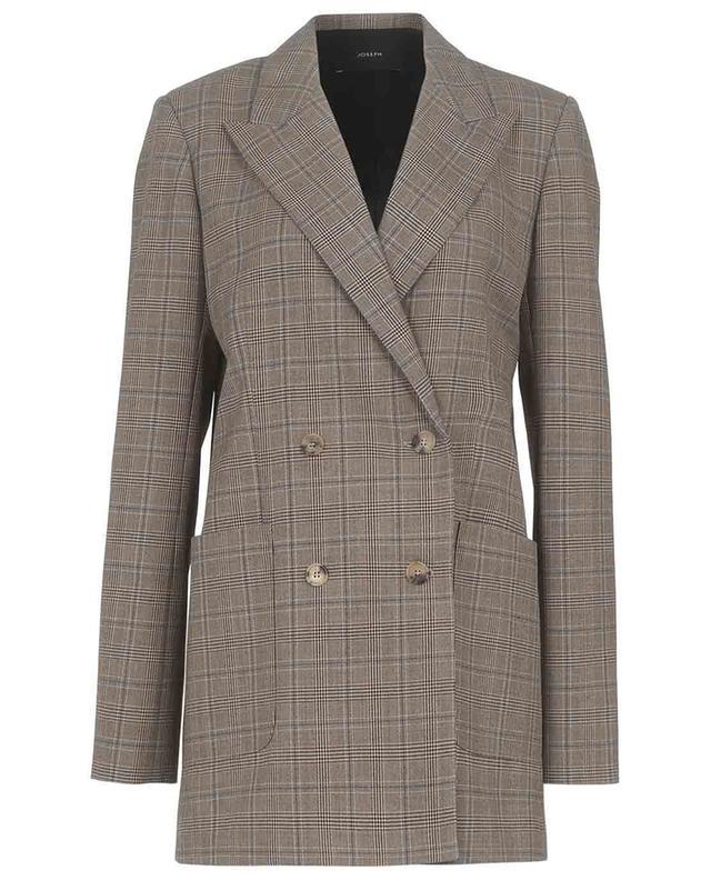 Josie double-breasted check printed wool blazer JOSEPH