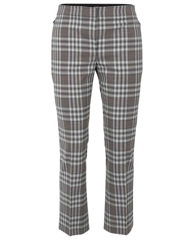 Pantalon raccourci en laine Kick Pant Plaid THEORY