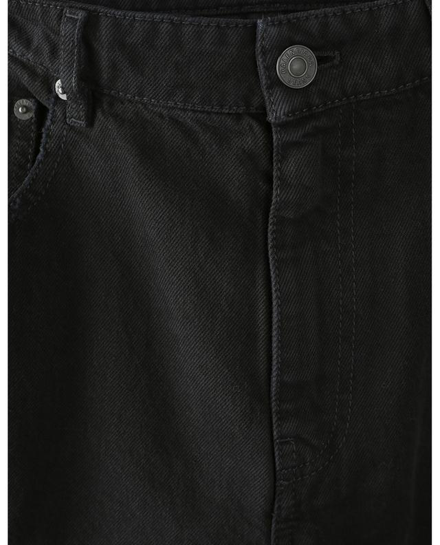 Pitch Black distressed cropped slim fit jeans BALENCIAGA