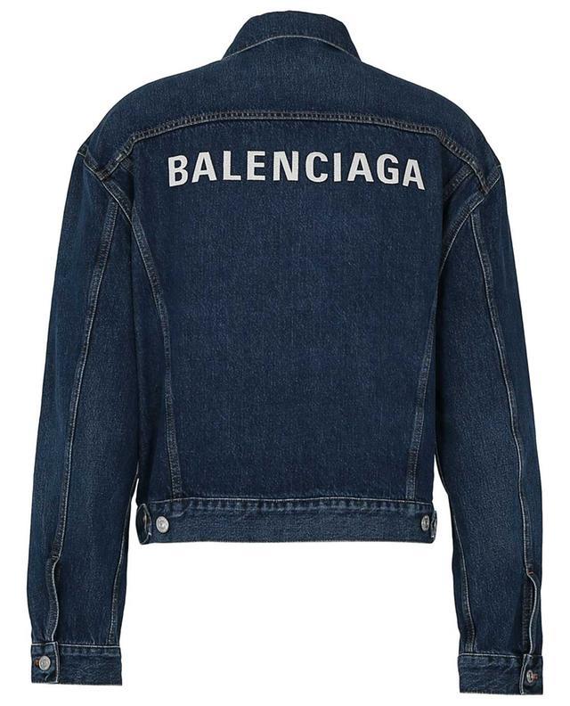 Logo embroidered boxy denim jacket BALENCIAGA