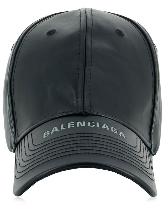 Casquette en cuir détail logo BALENCIAGA