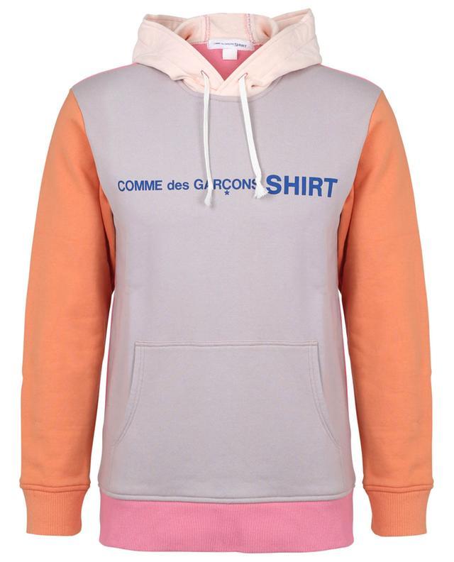 Sweat-shirt à capuche en coton imprimé COMME DES GARCONS SHIRT