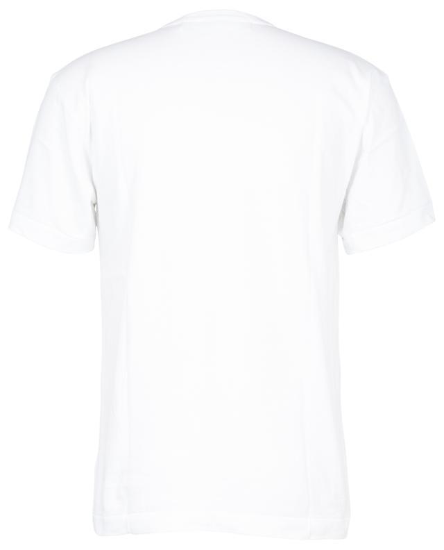 T-shirt à manches courtes patch double coeur rouge COMME DES GARCONS PLAY