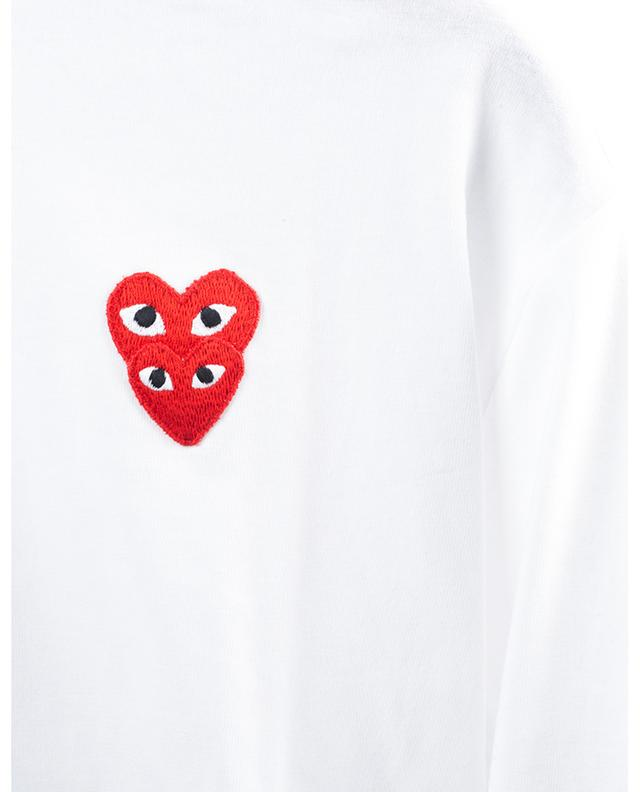 Long-sleeved T-shirt with embroidered hearts COMME DES GARCONS PLAY