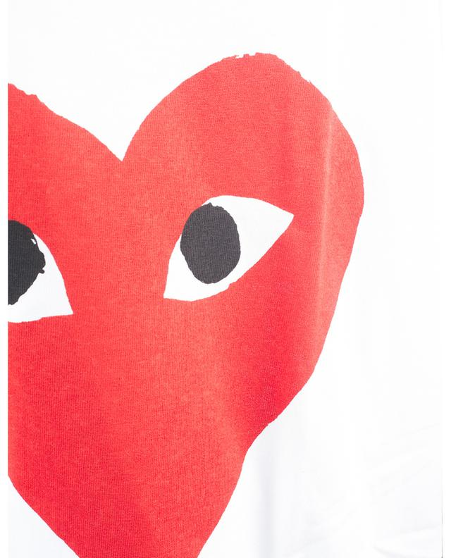 T-shirt à manches courtes imprimé avec coeurs brodés COMME DES GARCONS PLAY