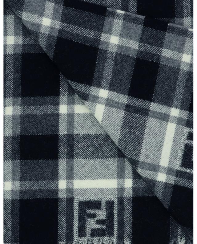 Écharpe à carreaux en laine et angora FF FENDI