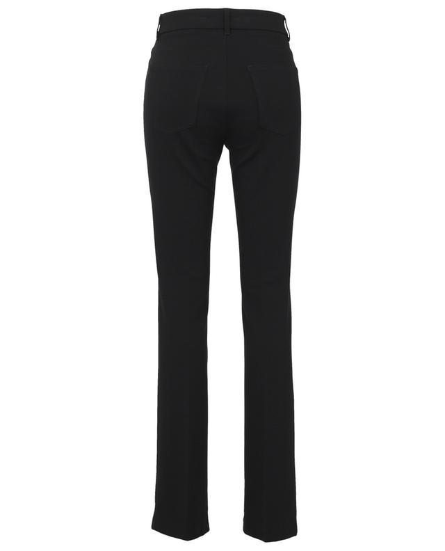 Pantalon droit en jersey détail mors Fleur CAMBIO