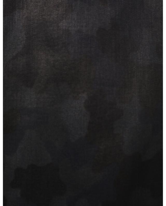 Jean skinny enduit imprimé camouflage Paris CAMBIO