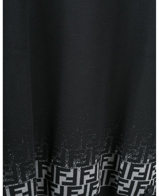 Pull en laine mélangée logo FF FENDI