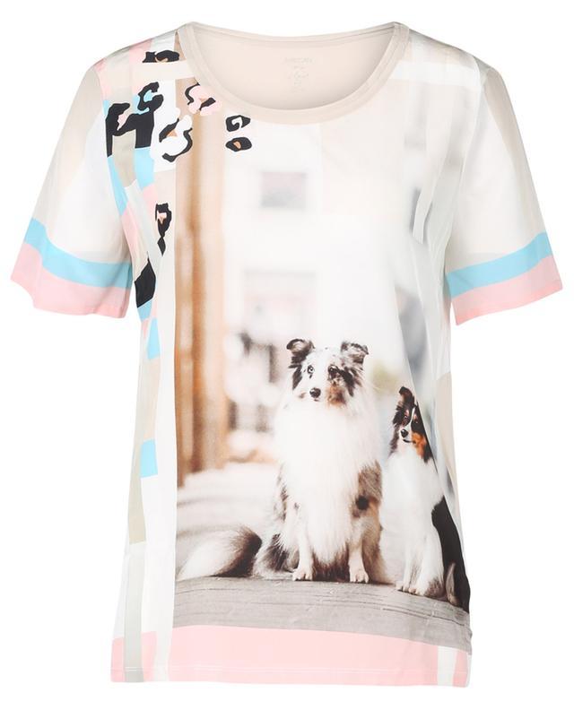 T-shirt en soie à imprimé chien MARC CAIN