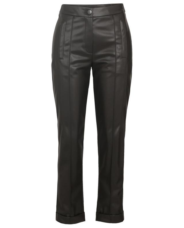Pantalon à pli avec revers en cuir synthétique MARC CAIN