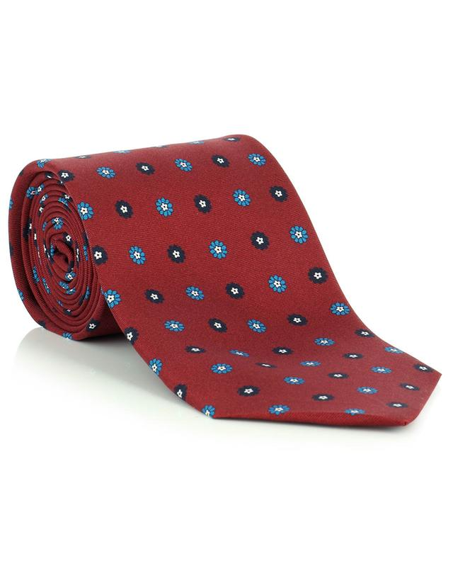Cravate en soie imprimé fleuri FEFE NAPOLI