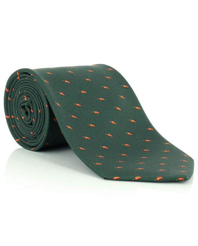 Cravate en sergé de soie imprimée piments FEFE NAPOLI