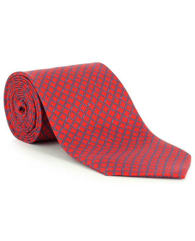Cravate en soie imprimé losanges FEFE NAPOLI