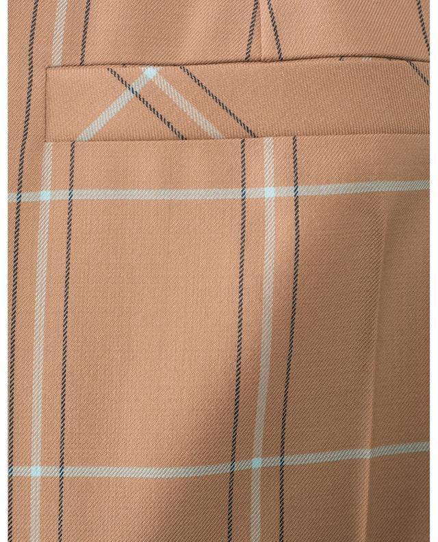Pantalon raccourci en laine vierge à carreaux MARC CAIN